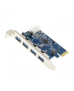 PLACA USB 3.0 PCI-EXPRESS 4 SAIDAS USB F-3217 DP - EMPIRE