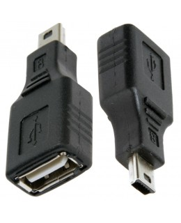 ADAPTADOR MINI USB MACHO PARA USB FEMIA