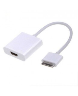 ADAPTADOR DOCK CONECTOR HDMI PARA IPAD 2.3 E IPHONE 4