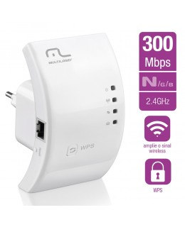 REPETIDOR ROTEADOR MULTILASER 300MBPS WPS - RE051