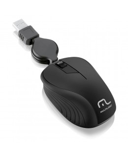 MOUSE MULTILASER RETRATIL PRETO - MO231