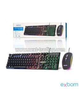 KIT TECLADO E MOUSE GAMER C/FIO BK-G550 EXBOM
